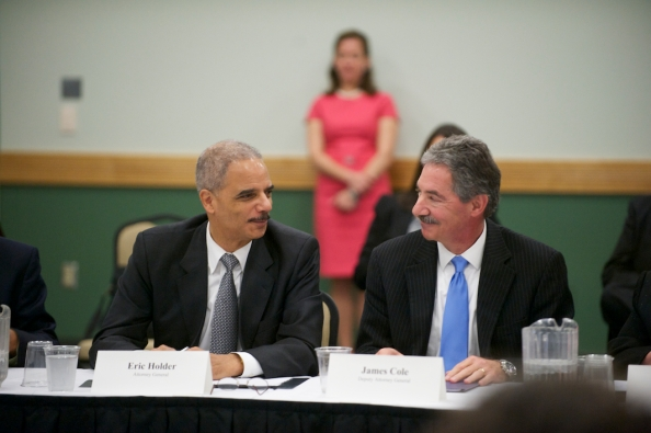 Attorney General Eric Holder with Deputy AG James Cole, who made the call to seize two months of phone records of 20 AP reporters.